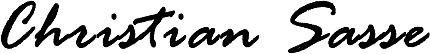Christian Sasse Unterschrift